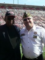 2011-11g-Michael & Tuskegee Airman Harold Hoskins-49ers vs Giants