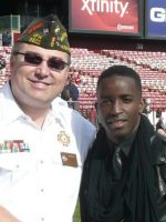 2011-11i-Michael & singer Elijah Kelley-49ers vs Giants Game