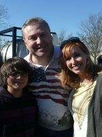 2011-12d-Kari Byron of Mythbusters with Nick & Michael Emerson