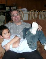 2010-12-Michael and his son Tyler