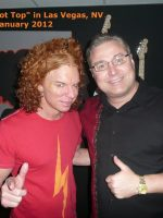 2012-01-Michael with Carrot Top-Las Vegas