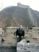 1998-03b-Michael at the Great Wall of China