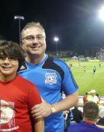 2011-10b-Nick & Papa at SJ Earthquakes vs Dallas game at Santa Clara University