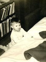 1964-Michael getting ready for bed