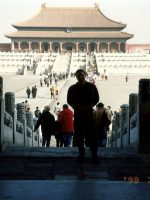 1998-03c-Michael in the Forbidden City in Beijing, China