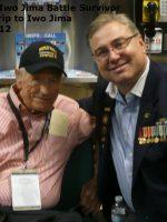 2012-03s-Iwo Jima Trip - Ira Rigger at Airport - Iwo Jima Survivor