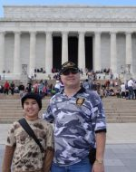 2014-10-3c-Tyler & Michael at the Lincoln Memorial in Washington, DC