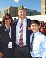 2014-10-05-Mary, Michael & Tyler at the Disabled Veterans Memorial Dedication