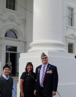 2014-10-7-Tyler, Mary & Michael at the White House in Washington, DC.
