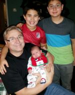 2014-12-24-Baby Mikey with Michael, Tyler and Nick-Christmas Eve