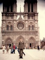 1983-04b-PFC Michael L. Emerson at Notre Dame in Paris, France