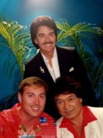 1986-08-Michael with Don Ho in Hawaii-Singer