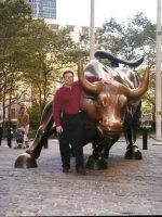 1998-09b-Michael and the Wall Street Bull, NYC