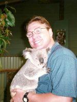 1998-12e-Michael holding a Koala Bear in Australia