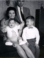1966-09a-Michael with is mother Anne, father Jacques and baby brother Christian