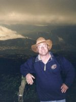 1999-11-Michael at the top of the Pacaya Volcano in Guatemala