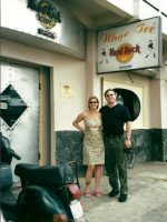 2000-09b-Michael & Rachel at the Hard Rock Cafe in Saigon, Vietnam