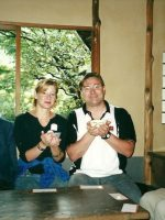 2000-09e-Rachel & Michael at a Japanese Tea Ceremony in Tokyo, Japan