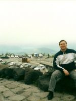 2000-09f-Michael at Mount Fuji, Japan