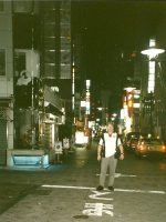 2000-09g-Michael in downtown Tokyo, Japan