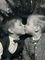 1967-12-Michael and brother Christian-Christmas