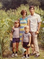 1968-06-Michael, Mom Anne, Christian & Father Jacques at the Park