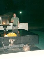 2000-10c-Michael at Gandhi's tomb in New Delhi, India