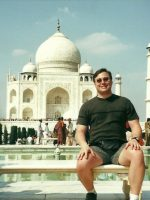 2000-10d-Michael at the Taj Mahal in Agra, India