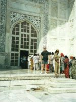 2000-10e-Michael at the Taj Mahal in Agra, India