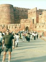 2000-10f-Michael at Red Fort in Delhi, India