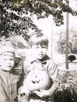 1968-10-Michael and brother Christian-Halloween