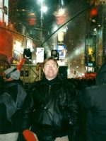 2001-01a-Michael during New Years Eve in Times Square, NYC