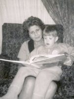 1969-11-Michael's brother Christian with our paternal Grandmother