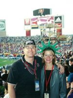 2001-01b-Michael & Rachel at Super Bowl 35 in Tampa Bay, Florida
