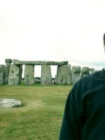 2001-07d-Michael at Stonehenge, England
