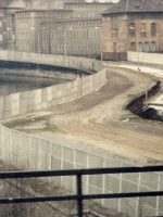 1983-04f- Picture of The Berlin Wall when PFC Emerson traveled through it, Berlin Germany