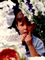 1970-07-Michael at a family friend's wedding