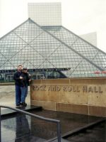 2002-05a-Michael & Lei at the Rock and Roll Hall of Fame in Cleveland, Ohio