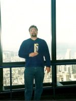 2002-05c-Michael at the top of Sears Tower, Chicago
