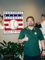 2002-07b-Michael at Baseball Hall of Fame, Cooperstown, NY
