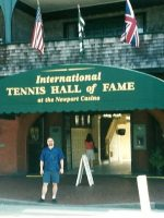 2002-09a-Michael at the Tennis Hall of Fame, Newport, Rhode Island