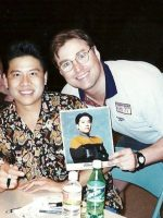 1998-08-Michael & Garrett Wang (Ensign Kim)-Star trek Voyager