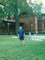 2002-09b-Michael at Author Mark Twain's house- Hartford, Connecticut