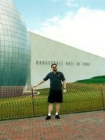 2002-09c-Michael at the Basketball Hall of Fame in Springfield, Massachusetts