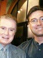 1998-09a-Michael & Regis Philbin on his show in NYC