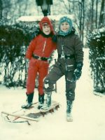 1975-01-Michael & Brother Christian in Kensington, Maryland