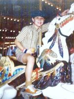 1976-08a-Michael on a Carousel