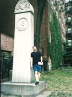 2002-09j-Michael at John Hancock's grave site in Boston, MA
