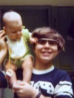 1977-05-Baby Jeremy & Michael at the Jennings house in Kensington, Md.