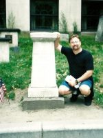 2002-09k-Michael at Paul Revere's grave site in Boston, MA